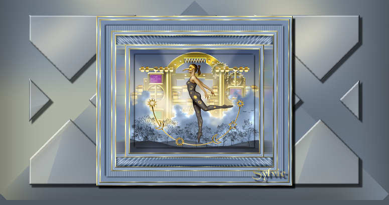 Papier cadre stars for Effet miroir photofiltre